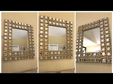 Dollar Tree DIY - 💕 Gold Glam Wall Mirror 💕