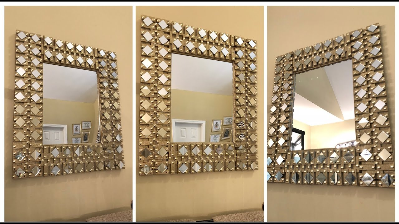 Dollar Tree Diy 💕 Gold Glam Wall Mirror 💕 Youtube