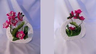 мк  цветы из бисера