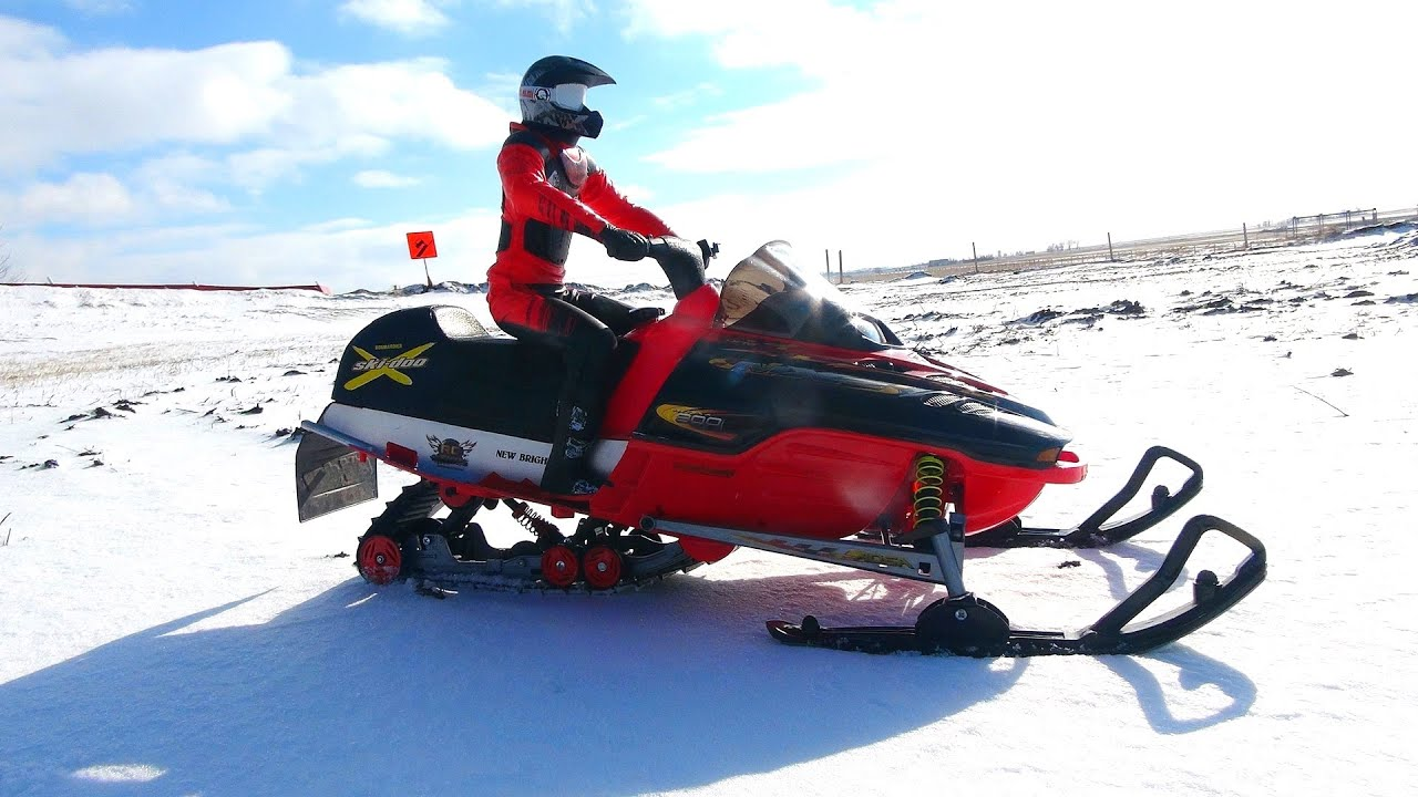 RC ADVENTURES - Modded 1/5 scale New Bright Snowmobile ...