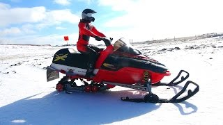 RC ADVENTURES - Modded 1/5 scale New Bright Snowmobile Skidoo