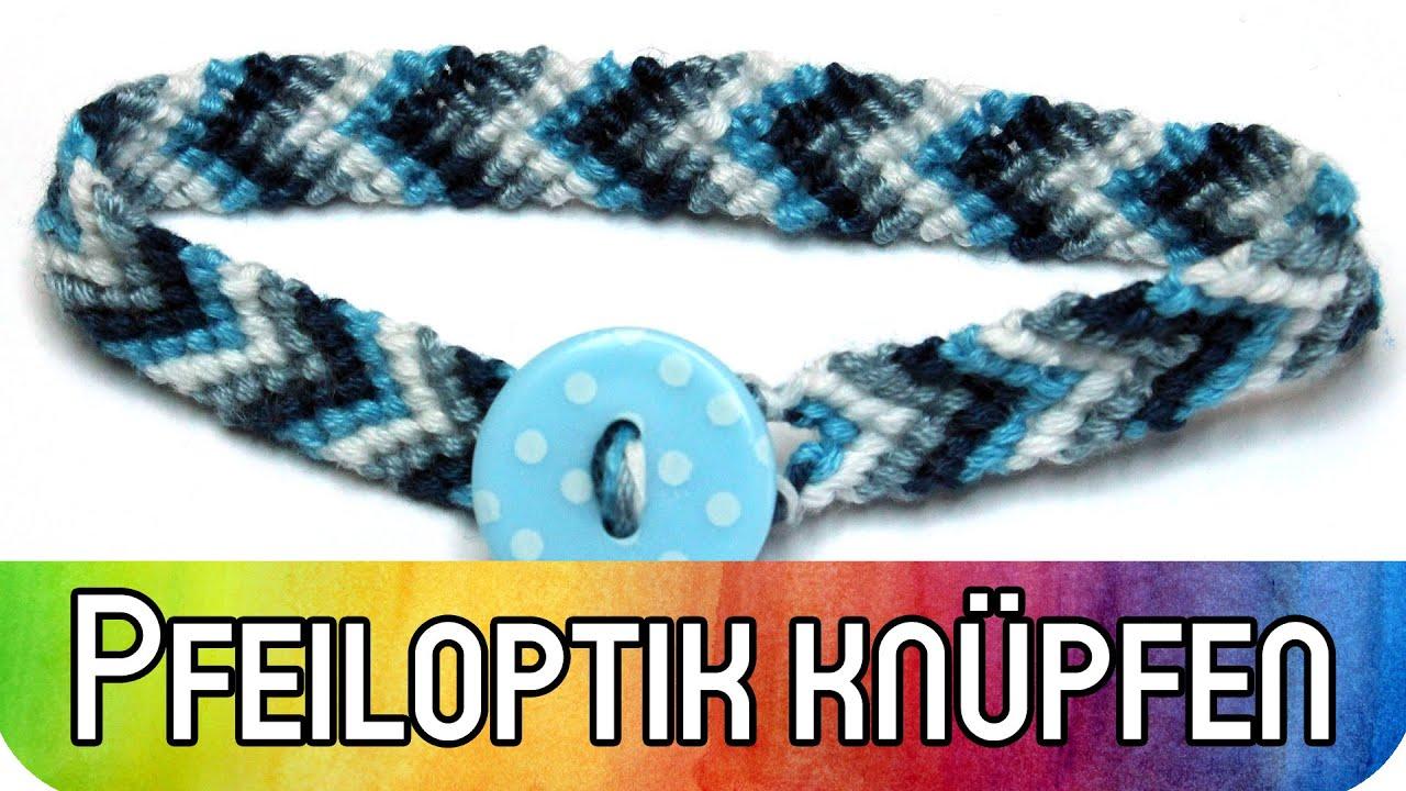 DIY Tutorial - Freundschaftbänder / Armband in Pfeiloptik knüpfen ...