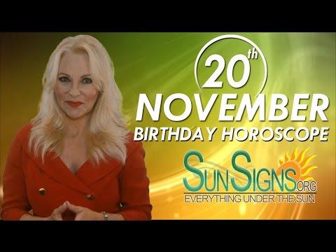 Birthday November 20th Horoscope Personality Zodiac Sign Scorpio Astrology