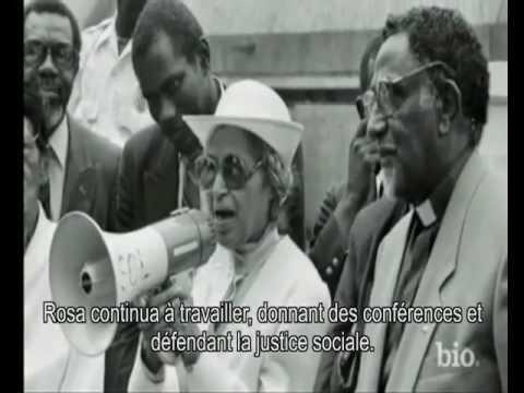 Biographie de Rosa Parks sous-titrée en français.