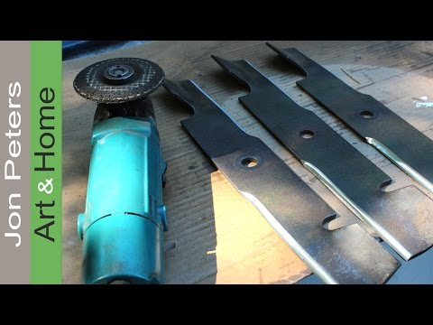 How To Sharpen Amp Balance Lawn Mower Blades Youtube