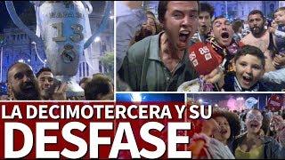 La fiesta de la afición del Real Madrid en Cibeles: desfase por La Decimotercera   Diario AS