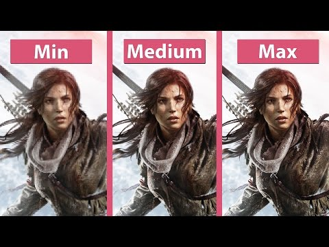 Rise of the Tomb Raider – PC Min vs. Max Detailed Graphics Comparison @1440p