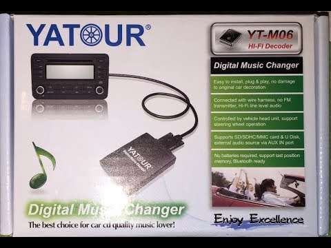 Tutorial-Montaggio Interfaccia YATOUR YT-M06,CD charger, USB, Memory card e cavo Aux x MP3