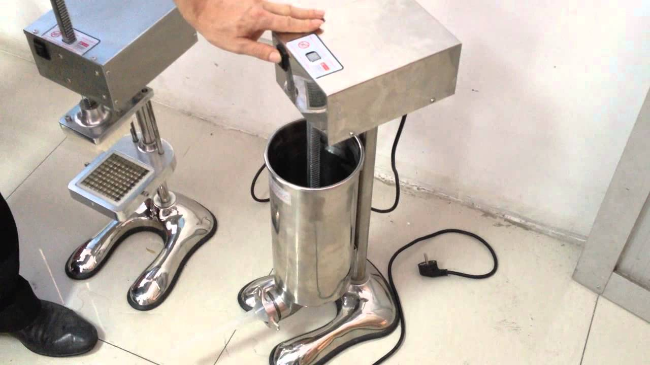 Stainless steel electric sausage stuffer filling machine youtube sciox Image collections