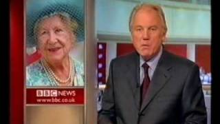 BBC News bulletin after Queen Mother dies