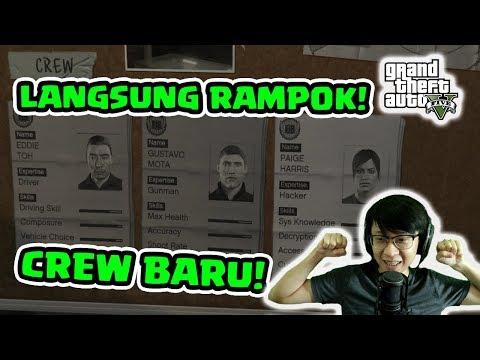 Dapat Crew Baru! Langsung Rampok Dah!! - GTA V #11