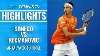 Lorenzo Sonego Beats Kecmanovic, Wins First ATP Title! | Antalya Open 2019 Final Highlights