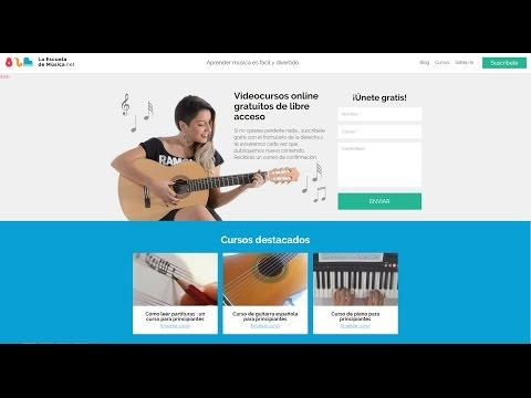 Como usar los cursos de La Escuela de Musica