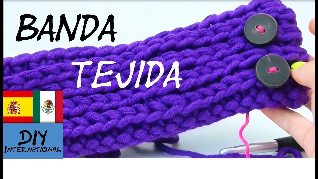 Banda bandana diadema tejida a crochet paso a paso - Diademas a crochet ...