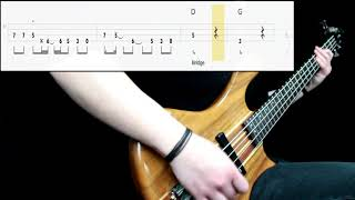 Guns N Roses - Welcome To The Jungle (Bass Only) (Play Along Tabs In Video)
