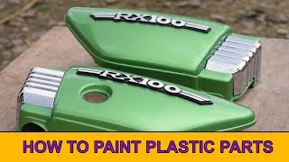 Rx 100 - Side Panels Painting - How To Paint Plastic Parts