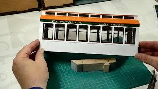 12- Tranvía BUENOS AIRES - Como colocar las ventanas y los vinilos. Modelismo Naval - Artesanía