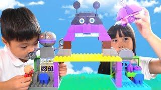 アンパンマン おもちゃ おおきなバイキン城とだだんだんブロックバケツ Anpanman  Baikinman block Toy thumbnail
