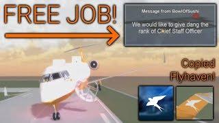 ROBLOX AIRLINE GAVE ME EIN KOSTENLOSER JOB NACH BAD FLIGHT
