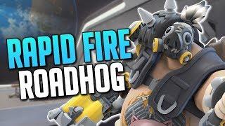 MACHINE GUN ROADHOG? (Roadhog Nerf Gameplay) / Overwatch