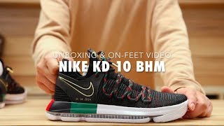 "Nike KD 10 ""BHM"" Unboxing & On feet Video at Exclucity"