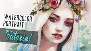 Watercolor Tutorial | How to paint a portrait