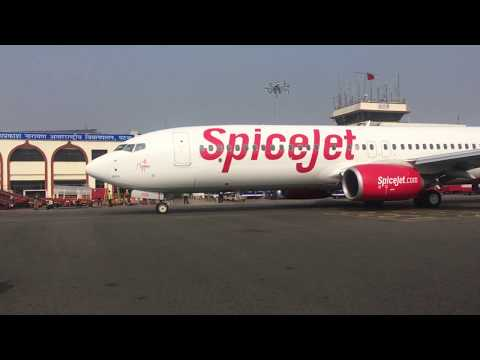 PATNA AIRPORT | SPICEJET FLIGHT SIGNALLING |