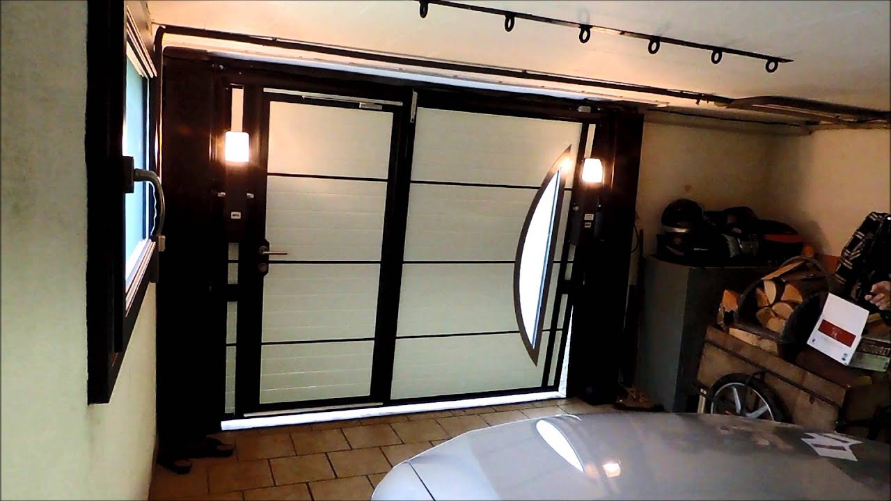 Ouverture fermeture porte basculante 2 youtube for Porte de garage automatique coulissante