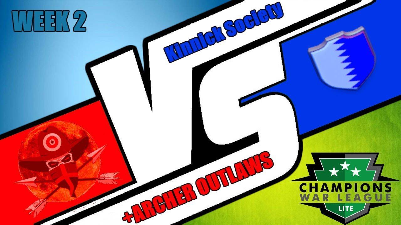 CWL +Archer Outlaws vs Kinnick Society Week 2 | WAR RECAP ...