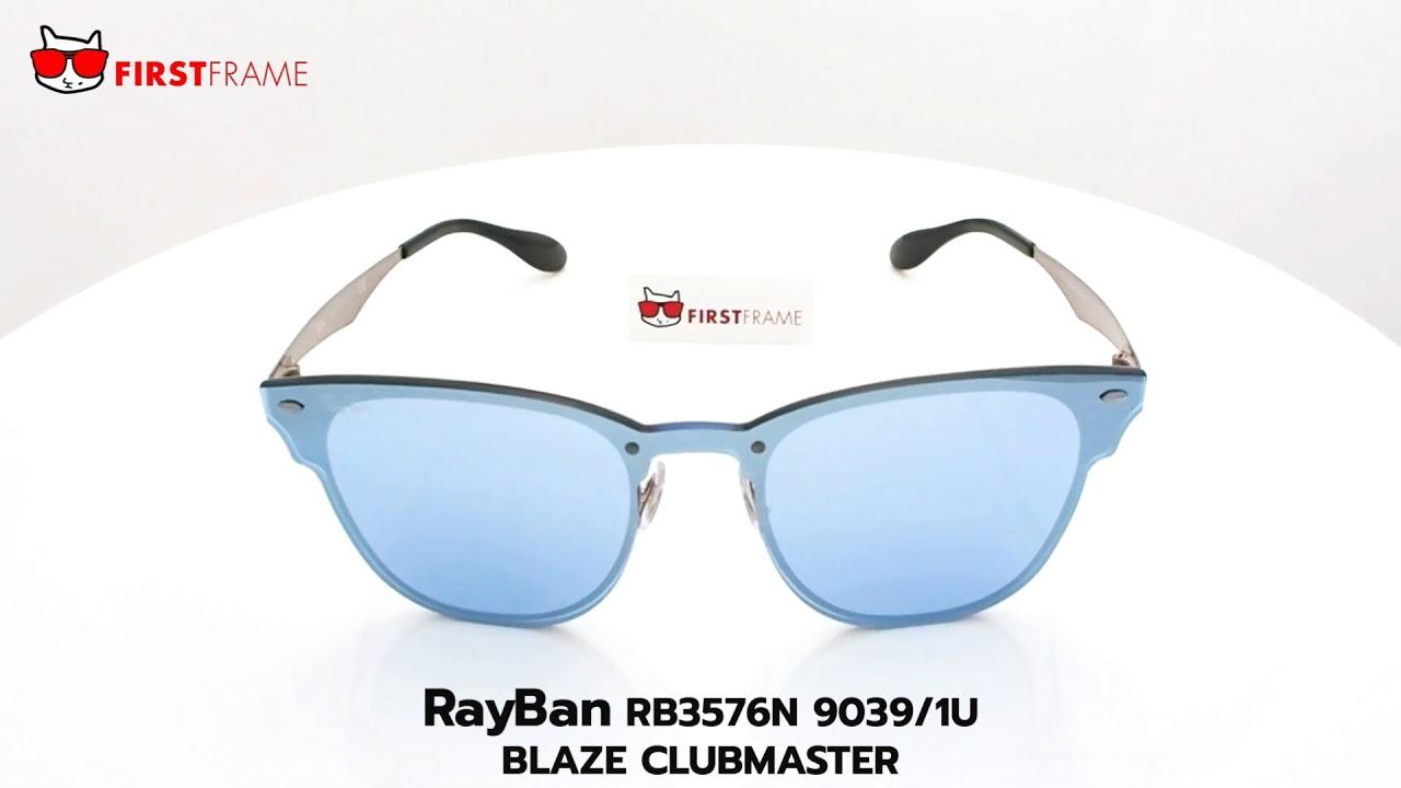 05514b1c3a RayBan RB3576N 9039/1U BLAZE CLUBMASTER - YouTube