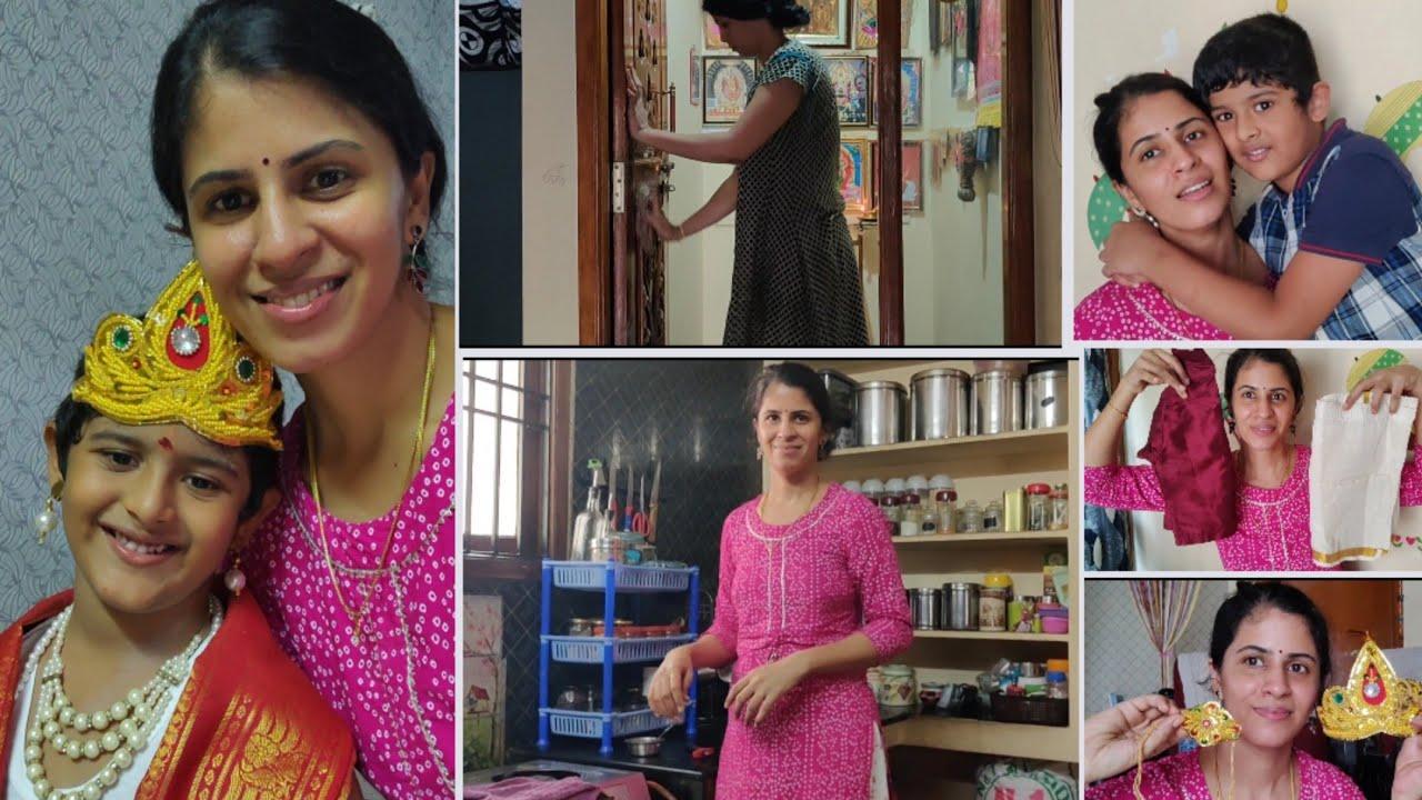 பாட்டு பாடி கூப்பிட்டோம் கிருஷ்ணரை💕😍 | Krishna jayanthi vlog full day vlog  | Twins vegkitchen