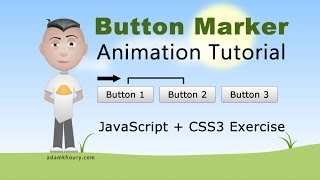 Menu Button Marker Animation Tutorial JavaScript CSS HTML