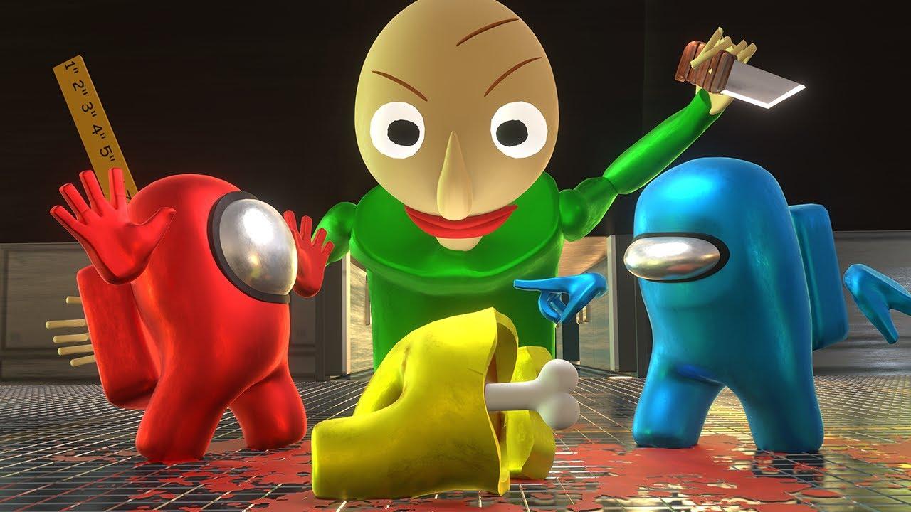 AMONG US 3D vs BALDI - 3D Animation