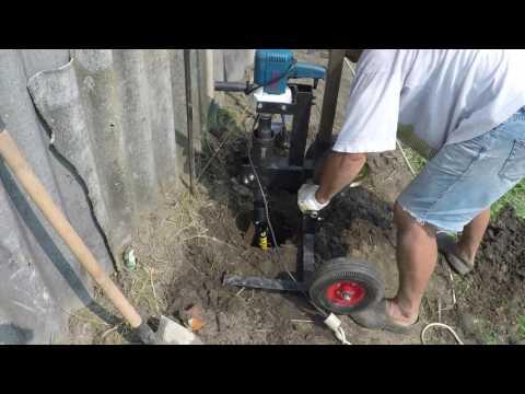 видео: Ямобур: новая поломка самодельного бура из миксера