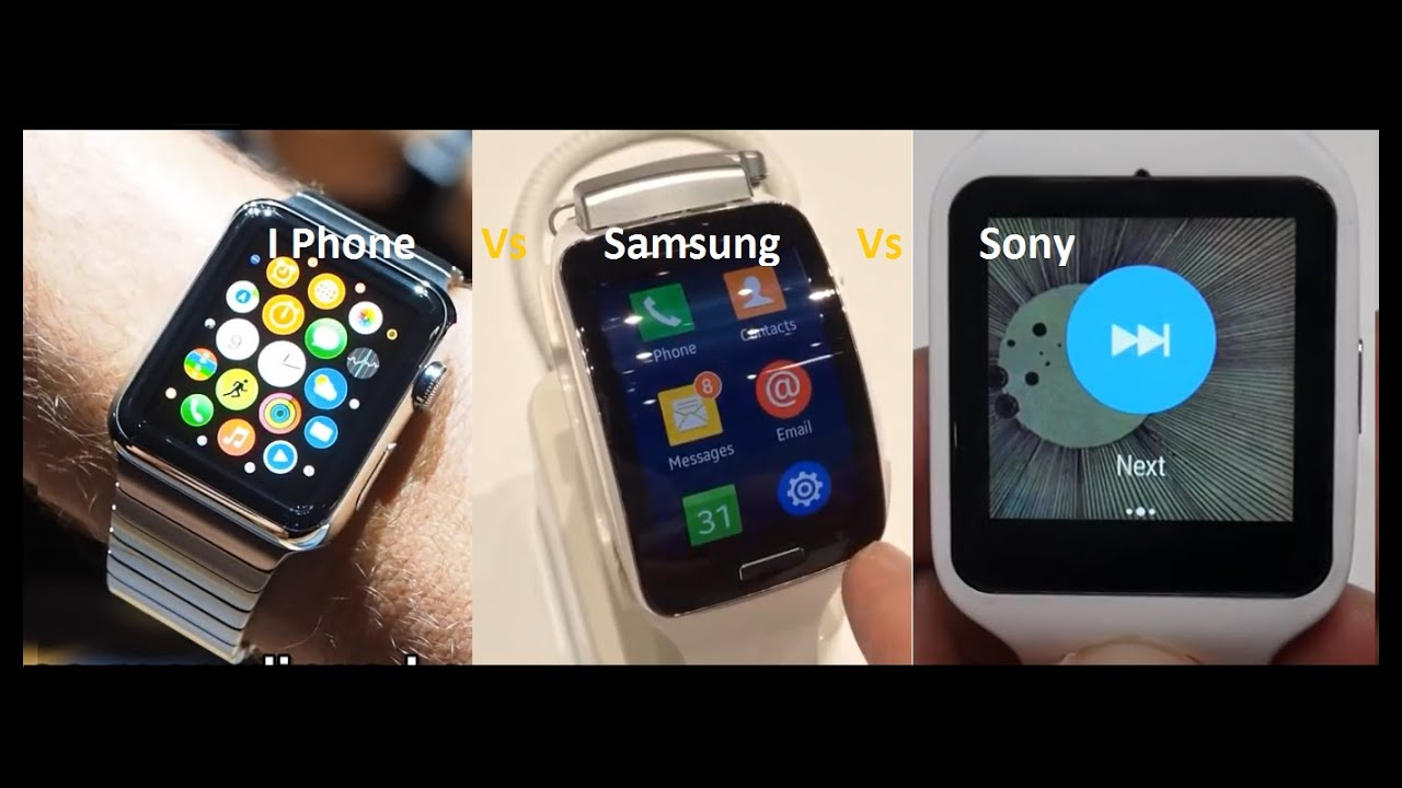 Apple Iwatch Vs Samsung Gear Vs Sony S Watch Comparison