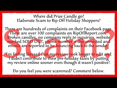 Prize Candle Re-Review & Reveal + 100's Scammed!?!? #CandleScandal