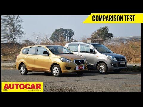 Datsun Go+ VS Maruti WagonR | Comparison Test | Autocar India