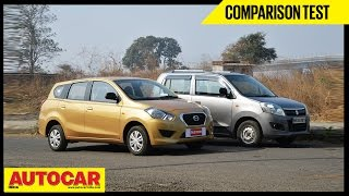 Datsun Go+ VS Maruti WagonR | Comparison Test | Autocar India