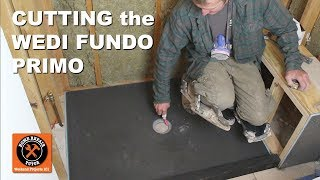 Install a Shower Pan Part 2: Cutting the Wedi Fundo Primo (Step-by-Step)