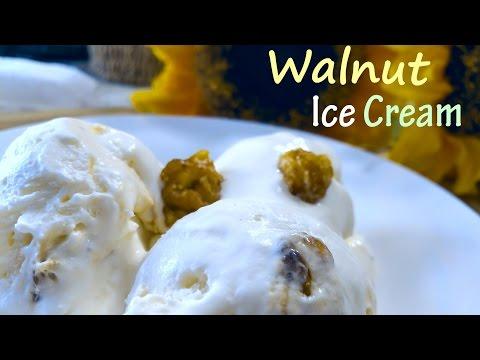 Walnut Ice Cream | Caramalized Walnut IceCream | Few ingredients Walnut IceCream