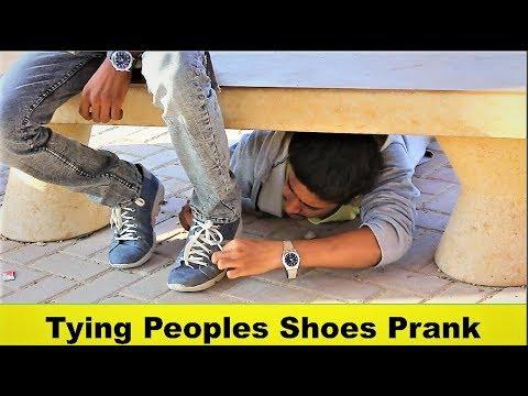 Tying People's Shoes Prank
