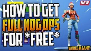 'GLITCH' COMMENT GET THE NOG OPS SKIN FOR FREE IN FORTNITE!! (Fortnite Christmas Skins Retourné)