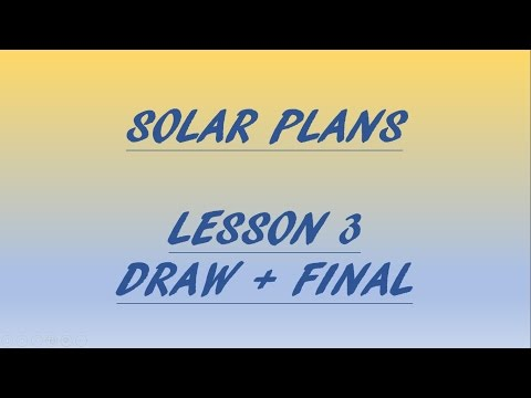 LESSON 3 CONTINUED - How to draft / design solar plans for permit - DRAW + FINAL