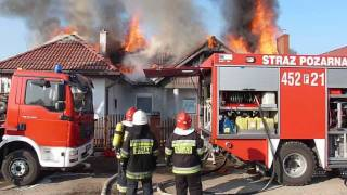 06 luty 2012 Jasień - Pożar Domu (OSP Jasień)