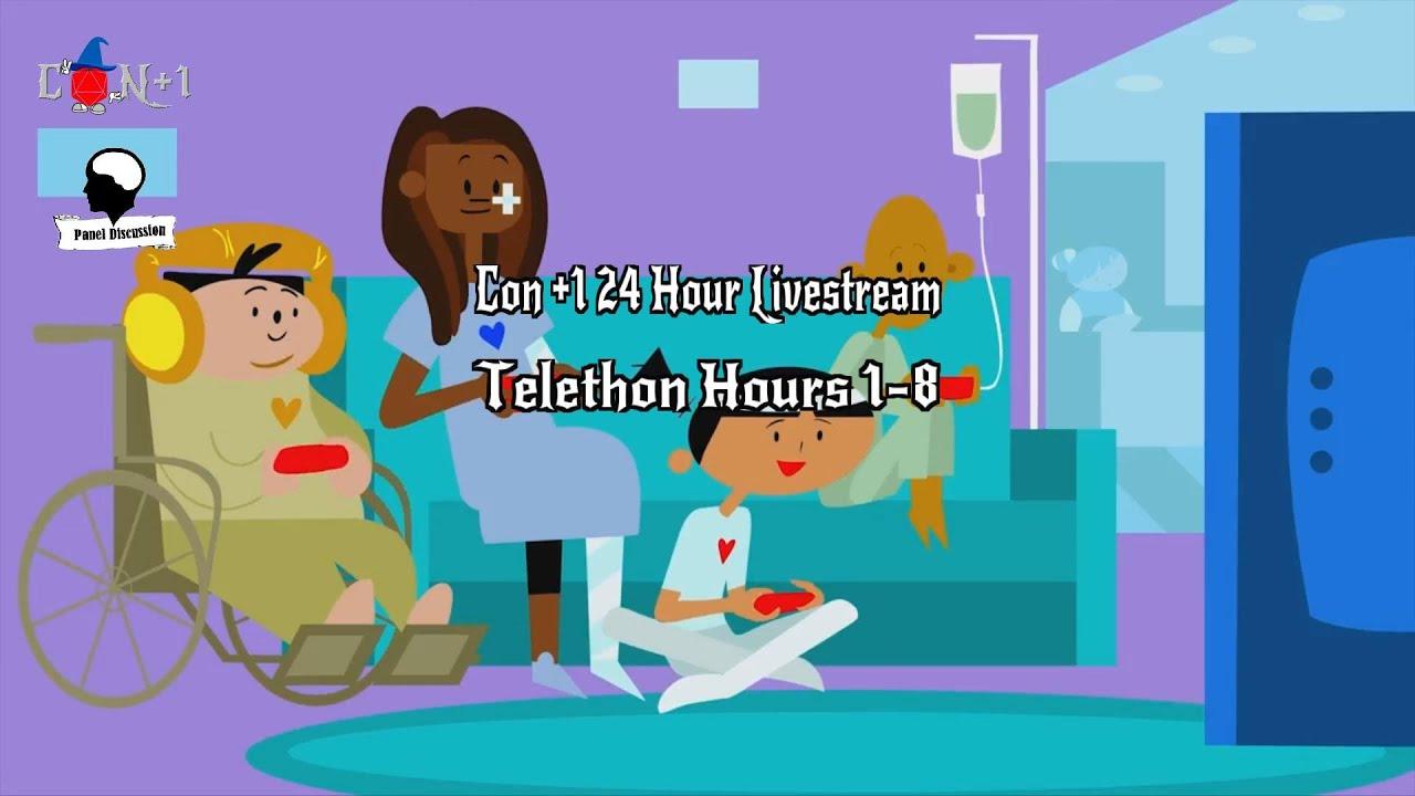 Con +1 24 Hour Livestream Telethon Hours 1-8