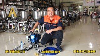 Hướng dẫn sử dụng máy phun sơn AHP-3900, Máy phun sơn AHP-3900, Máy phun sơn nước, Sơn dầu
