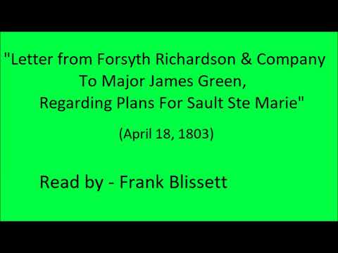 """""""Letter from Forsyth Richardson & Company To Major James Green"""" (1803)"""