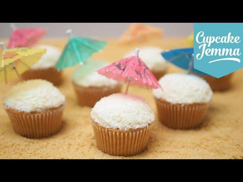 Piña colada Cocktail Cupcake Recipe   Cupcake Jemma