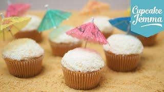 Piña Colada Cocktail Cupcake Recipe | Cupcake Jemma