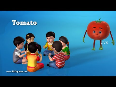 Learn Vegetables song  - 3D Animation Learning English preschool rhymes for children